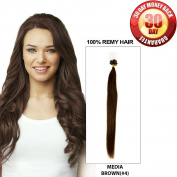 BellaBeauty Human Remy Micro Rings Loop Link Hair Extensions Straight 100 Strands 40g Per Set 41cm