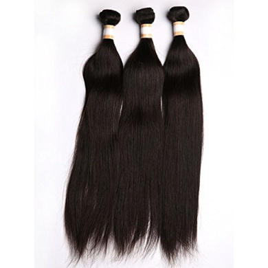Virgin Indian Hair Extension 3 Bundles 46cm Natural Straight Human Hair Weaves 300 Grammes
