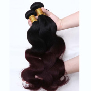 REINE Ombre Malaysian Hair Burgundy Body Wave Red Wine Malaysian Virgin Hair Bundles 4pcs T1B 99J Two Tone Human Hair