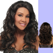 Vivica A Fox Hair Collection Ember-V Remi Human Hair Deep Lace Front Wig, FS1B/27, 170ml