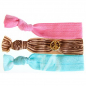 Twistband Mini Peace Bauble Hair Tie Set