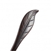 Women Girl Vintage Ebony Wood Handmade Carved Leaf Retro Hair Stick Hairpin Simple Bun Chinese Pin