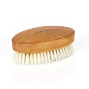 Fendrihan Genuine Boar Bristle and Pear Wood Military Hair Brush, Made in Germany SOFT LIGHT BRISTLE