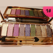 Silvercell 9 Colours Eye Shadow Palette Brush Shimmer Glitter Diamond Eyeshadow Cosmetic Set