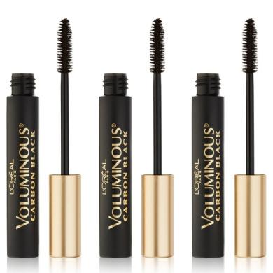 L'Oreal Paris Cosmetics Voluminous Original Mascara, Carbon Black, 3 Count