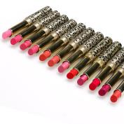 Perman 12pcs/lot Lipsticks Lip Stain Makeup Lot Leopard Moisturising Lip Stick