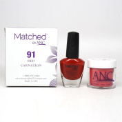 ANC Amazing Nail Concepts Matched kit # 91 Red Carnation