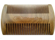 Debonair Duke Natural Organic Red Sandalwood Pocket Moustache & Beard Comb-Scented Fragrance Smell with Anti-Static & No Snag-Handmade 2-Sided Fine & Medium Tooth for All Hair, Moustache, & Beard Styles