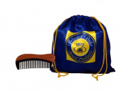 "Debonair Duke Natural Red Sandalwood & Horn Moustache & Beard Comb-5"" Scented Fragrance Pocket Comb-Anti-Static & Non-Snag Detangles-Handmade Medium Tooth Comb for All Hair, Moustache, & Beard Styles"