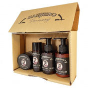 Barbero Grooming Beard Care Set 4 pcs - Oil, Balm, Shampoo, Wax