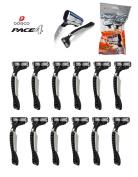 3 Pack 12 pieces Dorco Face4 Disposable Razors
