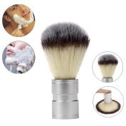 Hunputa Professional Boar Bristle Shaving Brush, Stainless Metal Handle