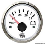 Voltmeter 18/32 V white/glossy