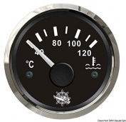 Water temperature gauge 40/120° black/glossy