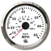 Pitot speedometer 0-55 MPH white/glossy