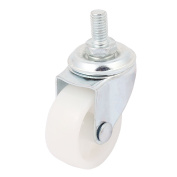 sourcingmap® Shopping Cart 8mm Thread Dia 1.5inch Rotary Round Wheel Swivel Caster
