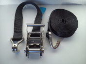 Stainless Steel Ratchet tie down strap with hooks 35mm x 6m
