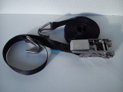 Stainless Steel Ratchet tie down strap with hooks 25mm x 6m