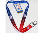 NBA Los Angeles Clippers Ombre Lanyard, Blue, One Size
