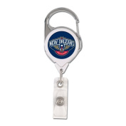 New Orleans Pelicans Premium Badge Holder 2 Sided NBA Retractable