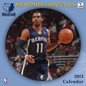 Turner Perfect Timing 2015 Memphis Grizzlies Team Wall Calendar, 30cm x 30cm
