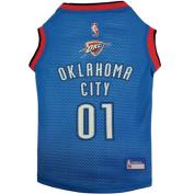Oklahoma Thunder NBA dog pet jersey tank LG 15-24kg