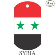 Syria Flag Dog Tags - 3 Pieces