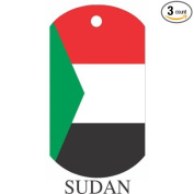 Sudan Flag Dog Tags - 3 Pieces