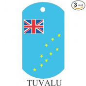 Tuvalu Flag Dog Tags - 3 Pieces