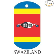 Swaziland Flag Dog Tags - 3 Pieces
