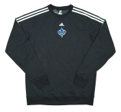 New Orleans Hornets Team Issued adidas Crew Sweatshirt Size 2XLT - Charcoal