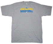 New Orleans Hornets Team Issued Short Sleeve adidas T-Shirt Size 2XL - Grey
