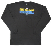 New Orleans Hornets Team Issued Long Sleeve adidas T-Shirt Size 3XLT - Black