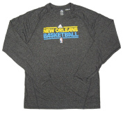 New Orleans Hornets Team Issued Long Sleeve adidas Training Shirt Size 4XLT - Charcoal