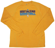 New Orleans Hornets Team Issued Long Sleeve adidas Training Shirt Size LT - Gold