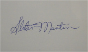 Slater Martin Hand Signed Autographed 7.6cm x 13cm Index Card MPLS lakers