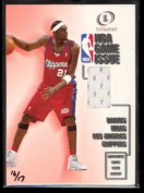 2000-01 Fleer Legacy Basketball NBA Game Issue Darius Miles Game Used Jersey # 16/17