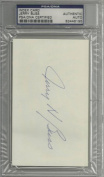 Jerry Buss Signed Index Card PSA DNA Encapsulated
