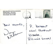 Don Nelson Autographed / Signed Postcard