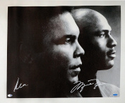 Muhammad Ali & Michael Jordan Autographed 60cm x 80cm Black & White Canvas - Upper Deck - PSA/DNA Certified