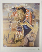 "Tribute to Meadowlark Lemon"" Signed Harlem Globetrotters 12x15 Litho - PSA/DNA Certified - Autographed NBA Art"
