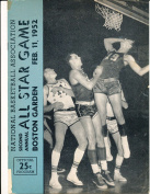 1952 2nd annual NBA all Star programme unscored