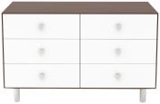 Oeuf Classic 6 Drawer Dresser, White/Walnut