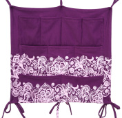 Babypeta Hanging Baby Nursery Organiser for Baby Cribs and Changing Tables, Violet