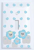 Blue Lion Switch Plate Covers Single Toggle / Lion Nursery Wall Decor