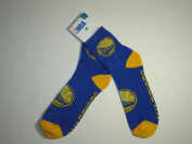 Authentic NBA Golden State Warriors Team Logo Print 2 Tone Blue Yellow Socks