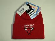 Adidas NBA Chicago Bull Team Logo Red Cuffed Retro Knit Beanie Cap Hat