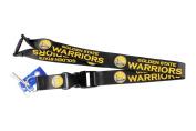 Golden State Warriors Clip Lanyard Keychain Id Holder - Black