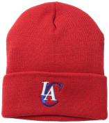 NBA Los Angeles Clippers Basic Cuffed Knit Hat, Red, One Size Fits All
