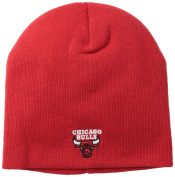 NBA Chicago Bulls Basic Uncuffed Knit Hat, Red, One Size Fits All